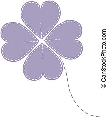 vector purple clover four leaf