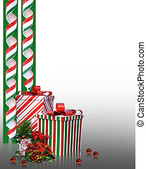 Christmas Border candy and gifts - Image and Illustration...