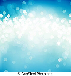 Blue blurs - Abstract background of light dots on blue