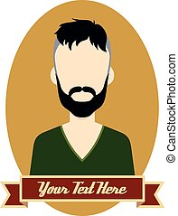 hipster guy cartoon - vector art illustration