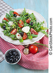 Caprese salad with tomatoes and mozzarella