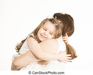 Mother and little lovely daughter - Beautiful little gril...