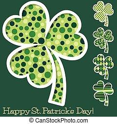 Retro St. Patrick's Day shamrocks in vector format.