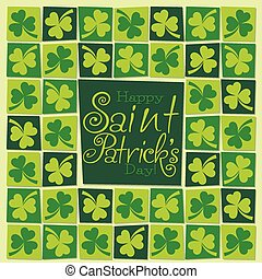 Mosaic funky St Patricks Day card in vector format