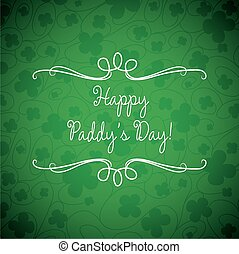 Swirl typographic St Patricks Day card in vector format
