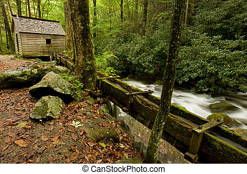 Great Smoky Mountains national park - Old farm by the stream...