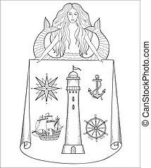 Mapy, średniowieczny, morski