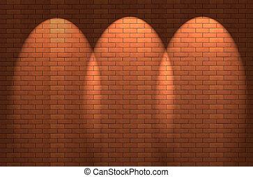 brick wall - Fragment of the shined brick wall