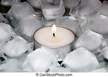 Ice and candle