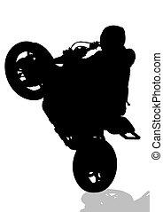 Sportsman on bike