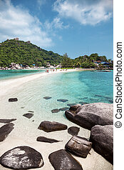 Beautiful beach in Koh Tao, Thailand - Beautiful beach with...