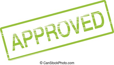 approved rubber stamp green
