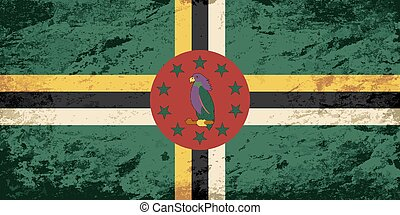 Dominican flag Grunge background Vector illustration Eps 8