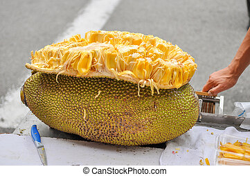 durian fruit on the table