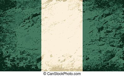 Nigerian flag Grunge background Vector illustration Eps 8