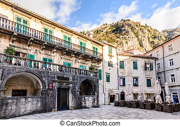 Palace of Pima family, Kotor, Montenegro. Unesco Town.