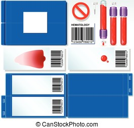 Hematology Test Complete Set - Detailed illustration of a...