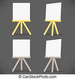 vector wooden easel drawing board