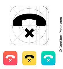 Decline call icon.