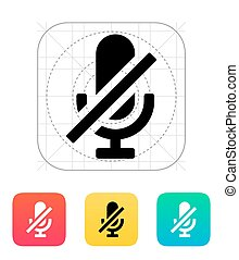 Turn off microphone icon. Vector illustration.