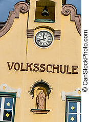building facade elementary school, a symbol of education,...