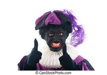 "Zwarte Piet is a Dutch tradition during ""Sinterklaas\"",..."