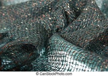 dorado, fragmento, hechaa mano, Hilos, lana, bufanda