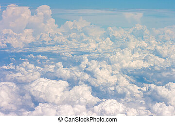 blue sky with clouds - bright blue sky with clouds