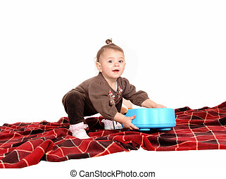 Baby playing with toy's. - A lovely baby girl playing with...