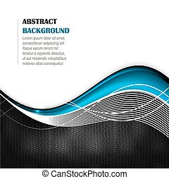 Abstract vector background with wave and leather texture