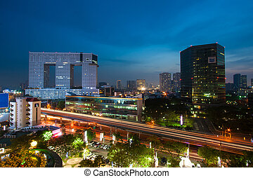 BANGKOK, THAILAND - January 9: Night scene of The Elephant Build