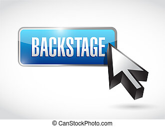 backstage button illustration design over a white background