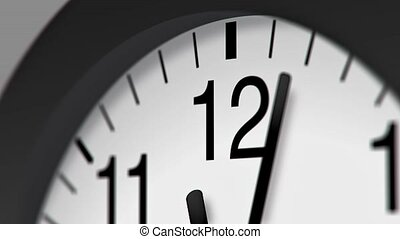 Clock Stock Video timelapse for use in presentations,...