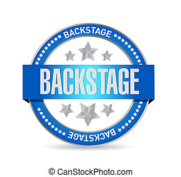backstage seal illustration design over a white background