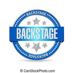 backstage seal illustration design over a white background