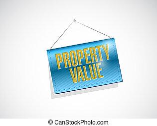 property value hanging banner illustration design over a...