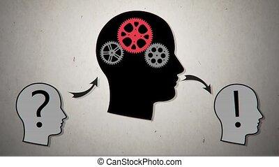 Gear head. Vector animation2