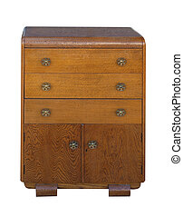 Antique Cabinet  isolated with clipping path