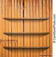 Wooden book Shelf background