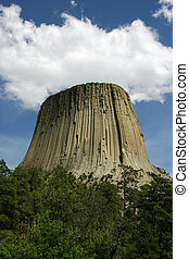 Close Encounter - Cloud over Devils Tower resembles the UFO...