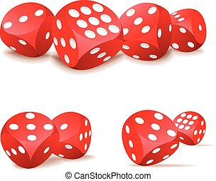 Red dices in action