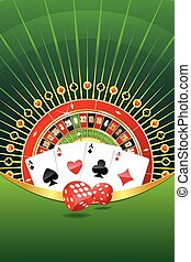 Gambling abstract background