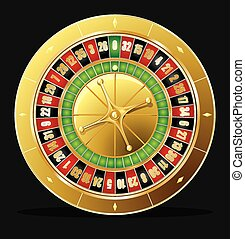 Roulette wheel vector - Detailed casino roulette wheel....