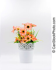 Plastic flower in vase