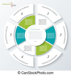 Modern template for business project or presentation with circle