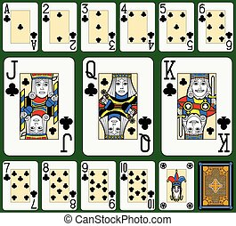 Clubs Suite Black Jack large figure - Playing cards, clubs...