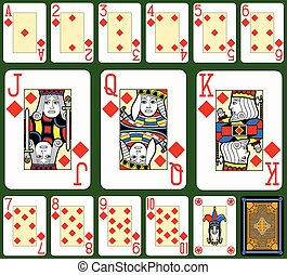 Diamonds Suite Black Jack large fig - Playing cards,...