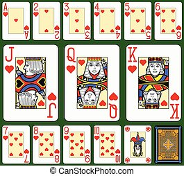 Hearts Suite Black Jack large - Playing cards, hearts suite,...
