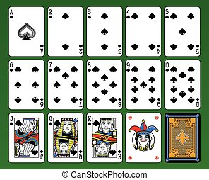 Spades suite cards - Playing cards, spades suite, joker and...