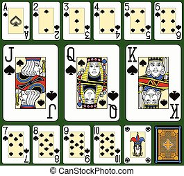 Black Jack Spades suite - Playing cards, spades suite, joker...